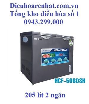 Tủ đông Hòa Phát 2 ngăn 205l dàn Đồng HCF-506DSH