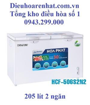 Tủ đông Hòa Phát 2 ngăn 205l dàn Nhôm HCF-506S2N2