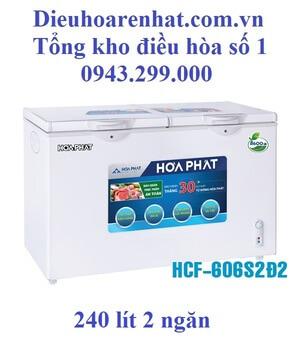 Tủ đông Hòa Phát 2 ngăn 240l dàn Đồng HCF-606S2Ð2