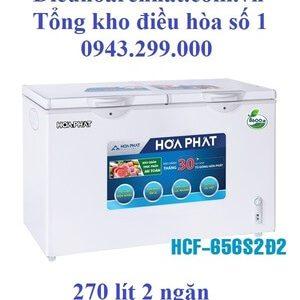 Tủ đông Hòa Phát 2 ngăn 270l dàn Đồng HCF-656S2Ð2