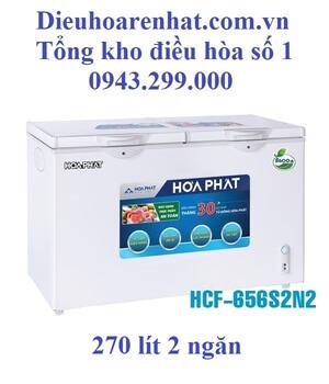 Tủ đông Hòa Phát 2 ngăn 270l dàn Nhôm HCF-656S2N2