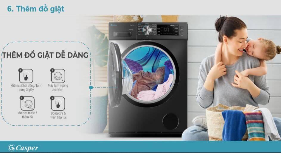 Tính năng máy giặt Casper