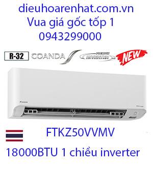 Điều hòa daikin FTKZ50VVMV 18000btu 1 chiều inverter