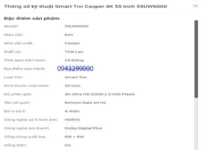 Tivi Casper 55 inch 55UW6000 4k Ultra HD (1)