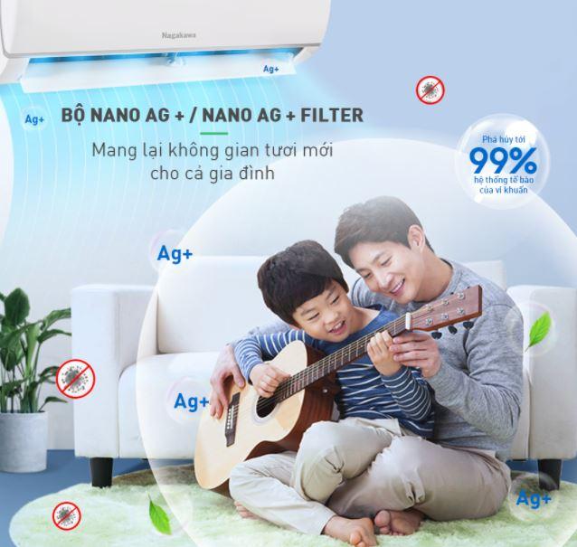 Được trang bị công nghệ Nano Ag+ hiện đại