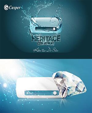 Bình nước nóng casper EH-30TH11 30l tráng kim cương