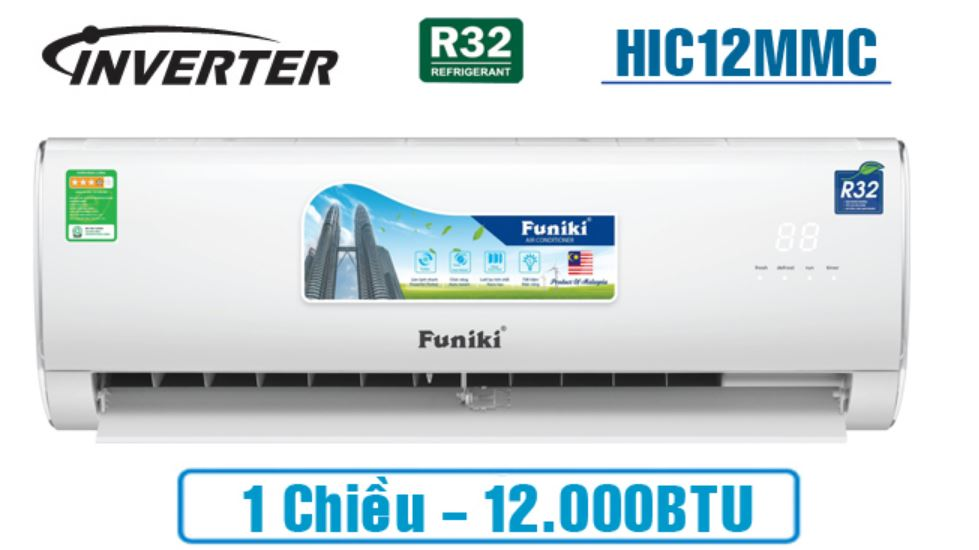 Điều hòa 1 chiều funiki 12000 btu inverter HIC12MMC