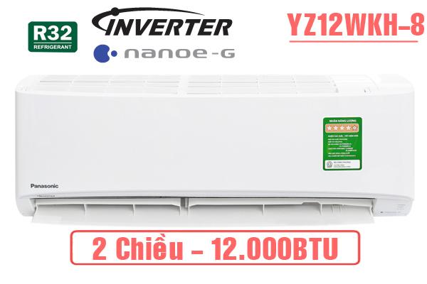 Điều hòa panasonic 2 chiều 12000btu inverter CU/CS-YZ12WKH-8