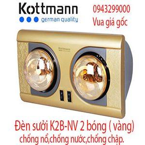 Đèn sưởi Kottmann K2B-NV 2 bóng vàng chính hãng