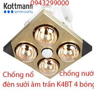 Đèn sưởi Kottmann K4BT âm trần 4 bóng chính hãng